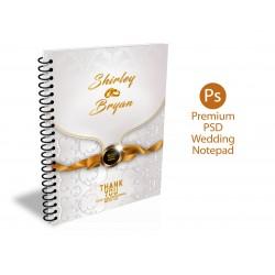 Premium Wedding Notepad Souvenir Template