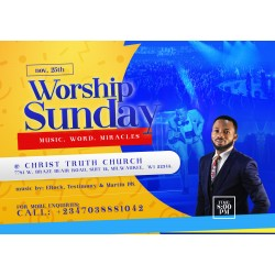2020 Worship Sunday Flyer Design