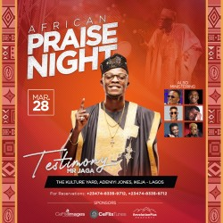2020 African Praise Night Flyer