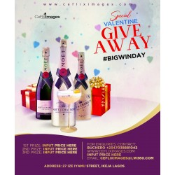 2020 Beautiful Valentine Give Away Flyer