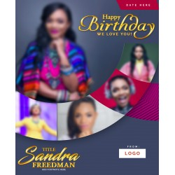 A Modern Birthday Template Design