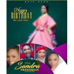 A Modern Birthday Template Design 3