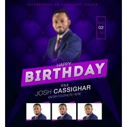 Birthday Cassighar Concept Template Design