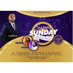2020 Super Sunday Flyer Template