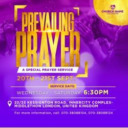2020 A Prayer Service Flyer