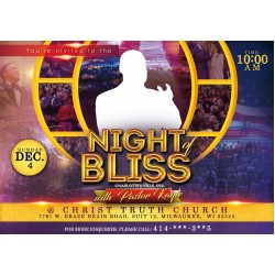 A Night of Bliss Flyer Design Concept