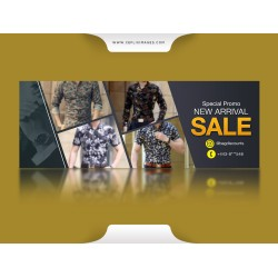 A New Arrival Sale for Men Flyer Design