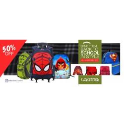 A School Backpack Sales Flyer Design