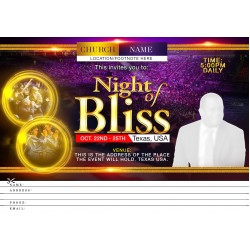 A Night of Bliss Invite Design Template