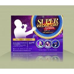 A Super Wednesday Service Invite Template