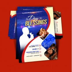 A Day of Blessings Invite Card