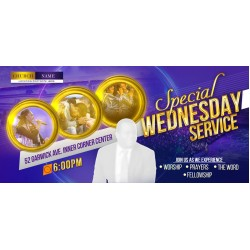 A Special Wednesday Service Invite Template