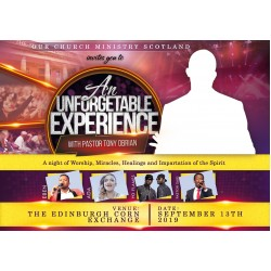 An Unforgettable Experience Flyer Design Concept