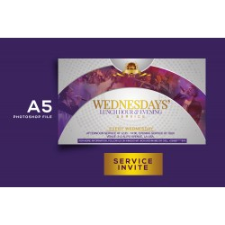 Wednesday Service Invite Template Design