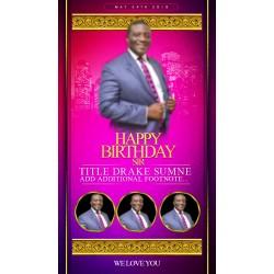 2019 Celebration of Greatness Birthday Template
