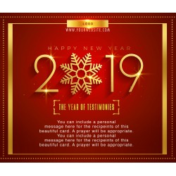 Happy New Year Royal Red-Gold Card