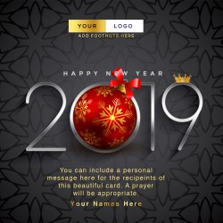 Beautiful Happy New Year Card