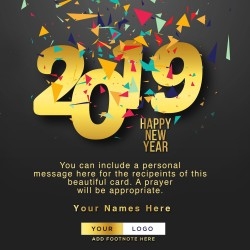 Colourful Happy New Year Card