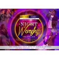 A Night of Worship Invite Design Template