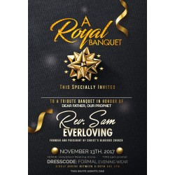 Royal Banquet Dinner Invite Template