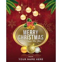 Christmas & New Year Card Red Design