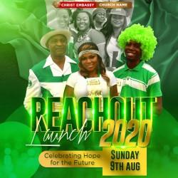 Reachout Launch graphics design