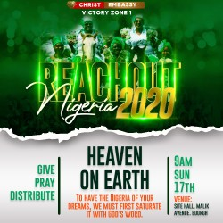 Reachout Nigeria Church graphics design