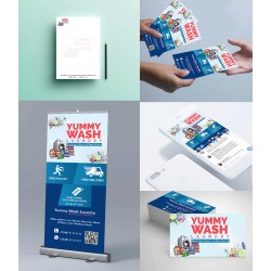 Laundry Service Full Branding Package