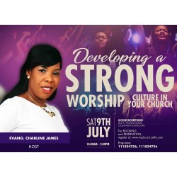 Strong worship banner flyer