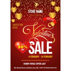 Valentines Day Sales promo
