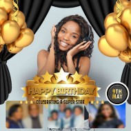 black and gold birthday