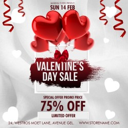 White Valentine Sales