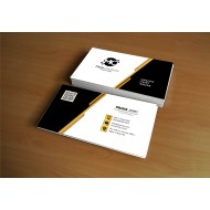 Monochrome and Gold Business card