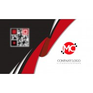 White and Red Business card