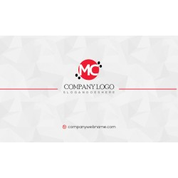 White Creative Business card