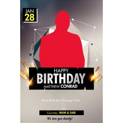 Birthday template design 08