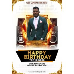 Birthday template design 06
