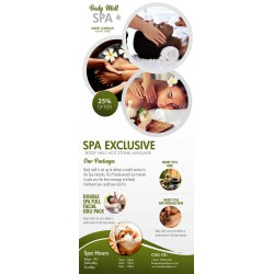 Body Treatment Corporate Roll Up Banner