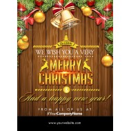 Merry Christmas Happy New Year Flyer