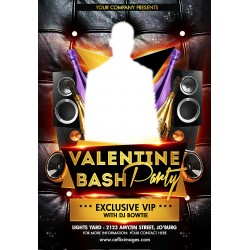 Valentine Bash Party Flyer
